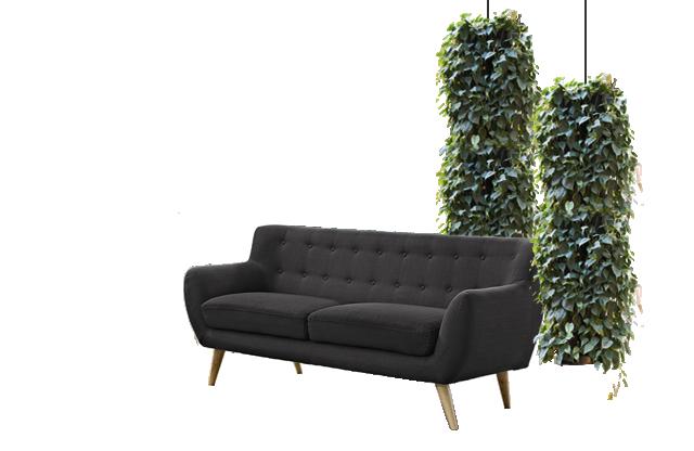 Grønne søjler indendørs, plantesøjler