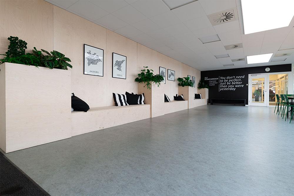retro planter, kantine, plantekasser i træ, Ole Larsen