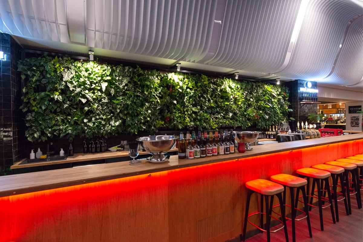 Bar, plantevæg,