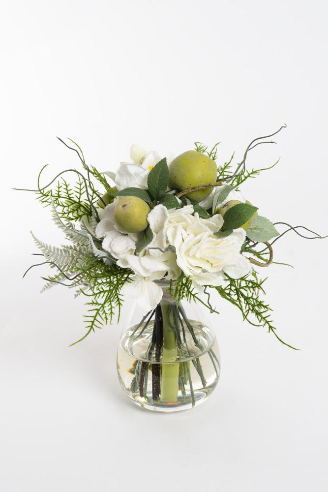 Buket med hvide blomster,