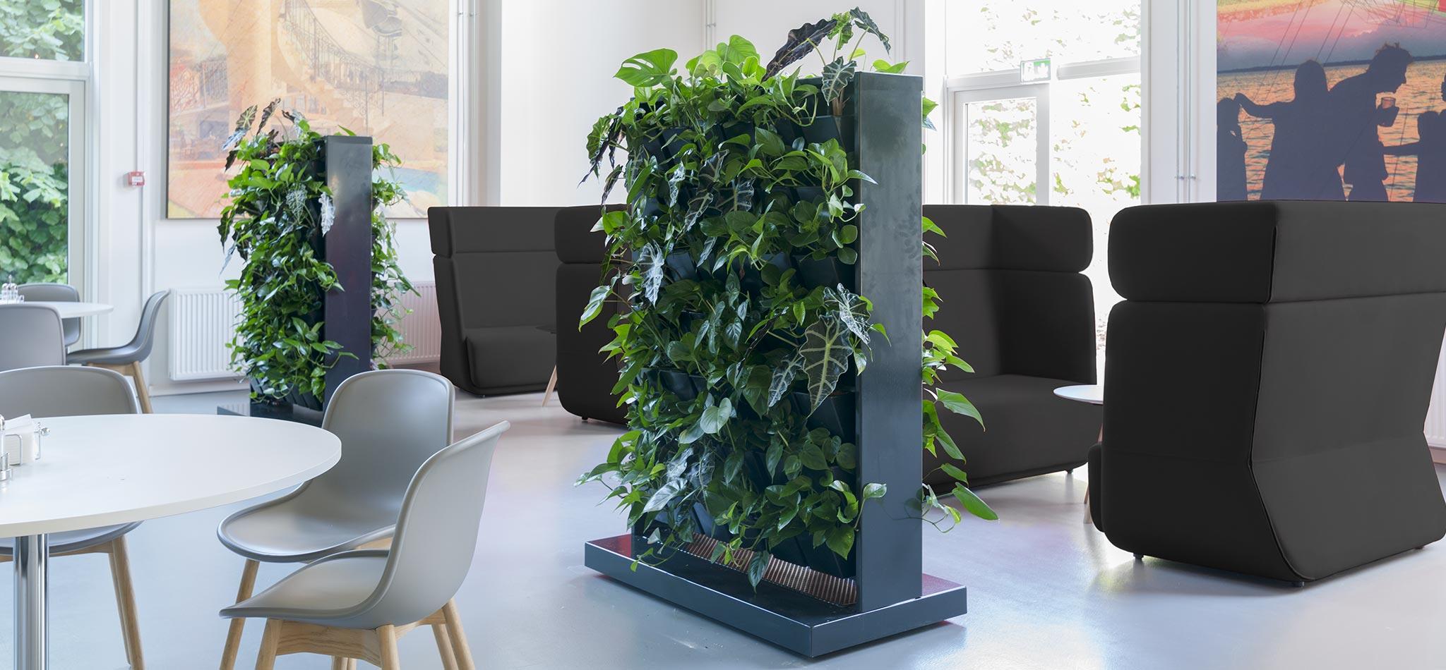Mobile plantevægge, rumdeler med planter,